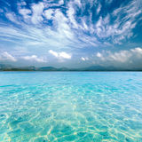 Crystal clear sea of tropical island Royalty Free Stock Image