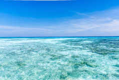 Crystal clear sea of tropical island Stock Photography