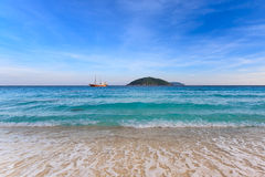 Crystal clear sea of tropical island Stock Images