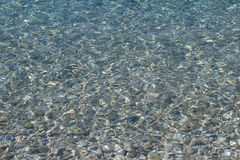 Crystal clear sea water Royalty Free Stock Photography