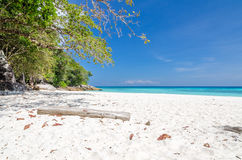Crystal clear sea and white sand beach Stock Image