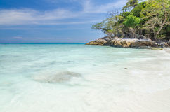 Crystal clear sea and white sand beach Royalty Free Stock Photo