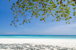 Crystal clear sea and white sand beach Royalty Free Stock Image