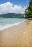 Crystal clear sea and white sand beach, Thailand Stock Photos