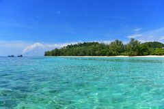 Crystal clear shallow part of Andaman Sea Royalty Free Stock Images