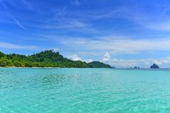 Crystal clear shallow part of Andaman Sea Royalty Free Stock Photo