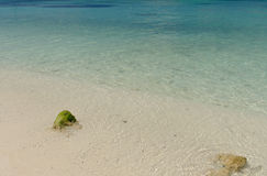 The crystal clear and shallow waters on the islands of the tropi Royalty Free Stock Images