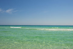 Crystal Clear Shore. National Sea Shore Coast Pensacola Florida Royalty Free Stock Photo