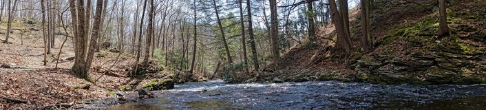 Clear water. Crystal clear spring water in the woods in Bushkill Pennsylvania Royalty Free Stock Photography