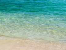 Crystal Clear tropical Beach; background Royalty Free Stock Photo