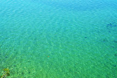 Crystal clear turquoise lake water Royalty Free Stock Photography