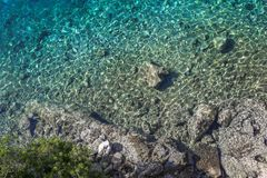 Crystal clear turquoise water stock image