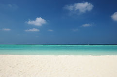 Crystal clear turquoise water at tropical beach Stock Photo
