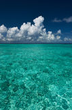 Crystal clear turquoise water at tropical beach Stock Photos