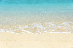 Crystal clear turquoise water wave. Beach of Gili Meno, Lombok, Indonesia Stock Images