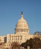 Crystal Clear US Capitol in winter sun Stock Photos