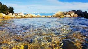 Crystal Clear Water in Abel Tasman National Park stock fotografie