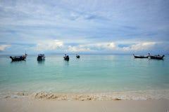 Crystal clear water at Andaman Sea. Lipe Island, Satun, Thailand Stock Photos