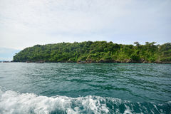 Crystal clear water at Andaman Sea. Lipe Island, Satun, Thailand Stock Photography
