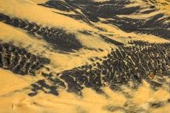 Crystal Clear Water Flowing op Zand voor Abstracte Achtergrond royalty-vrije stock fotografie
