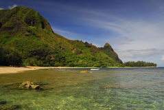 Crystal clear water in Hawaii stock photography