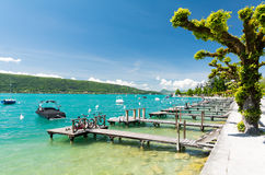 Free Crystal Clear Water In Lake Annecy In France Stock Photos - 93703743