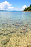 Crystal Clear Water In Shallow Sea Stock Photos