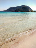 Crystal-clear water of the Mondello beach near Palermo, Sicily Royalty Free Stock Photography
