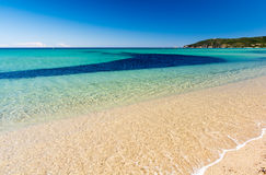 Crystal clear water on Pampelonne beach near Saint Tropez in south France