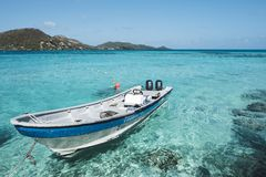Crystal clear water in Providencia, Colombia stock photos