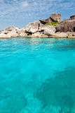 Similian Islands, clear water Royalty Free Stock Image