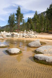 Crystal Clear Water Smooth Rocks Lake Tahoe Sand Harbor Stock Photos