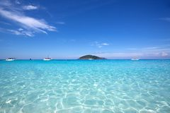 Crystal clear water of tropical island, Similan, Thailand Royalty Free Stock Photo