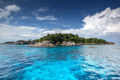 Crystal clear water of tropical island, Similan, Thailand Stock Photos