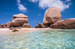 Crystal Clear Waters Of Anse Marron Royalty Free Stock Images