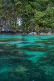 Crystal clear waters of a Lagoon Stock Photo