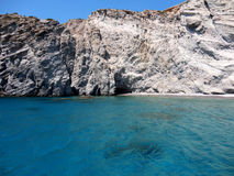 Crystal clear waters in Paros Island, Greece Royalty Free Stock Image