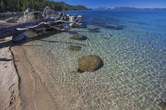 Crystal Clear Waters on the Shore Stock Images