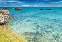 Crystal clear waters in southern Italy Stock Images