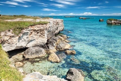 Crystal clear waters in southern Italy Stock Photos