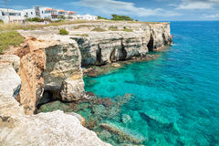 Crystal clear waters in southern Italy Royalty Free Stock Photography