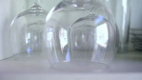 Crystal Clear Wine Cups stock video