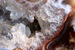 Crystal close up. A close up (macro) of a piece of white crystal Royalty Free Stock Images
