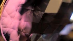 Crystal Closeup rojo almacen de video