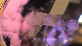Crystal Closeup rosso video d archivio