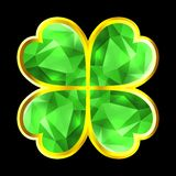 Crystal Clover Royalty Free Stock Photo