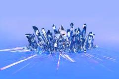 Crystal Cluster - blått vektor illustrationer