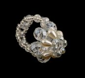 Crystal cluster ring Stock Image