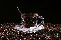 Crystal Coffee Cup Stock Photography