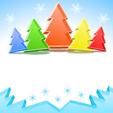 Crystal colorful Christmas trees Royalty Free Stock Photo